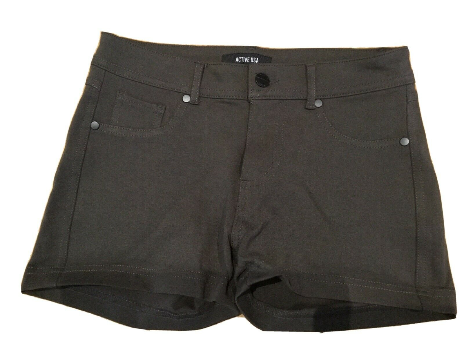 Active USA Hot Pants kurze Hose khaki Gr. S Damen Mädchen NEU o. Etikett