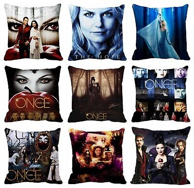 45x45cm//50x50cm Custom Pillowcase Once Upon A Time Zipper Pillow Cover Y31