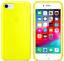iPhone-8-7-SE-2020-Apple-Echt-Original-Silikon-Schutz-Huelle-Gelb-Flash-Blitz Indexbild 1