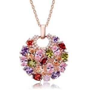 Gorgeous-Mona-Lisa-Amethyst-Peridot-Morganite-Rose-Gold-Plated-Necklace-Pendants