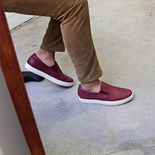 New Mens Mark Nason Los Angeles Sneakers Dark Red 8 Gower Slip On Skechers Cool