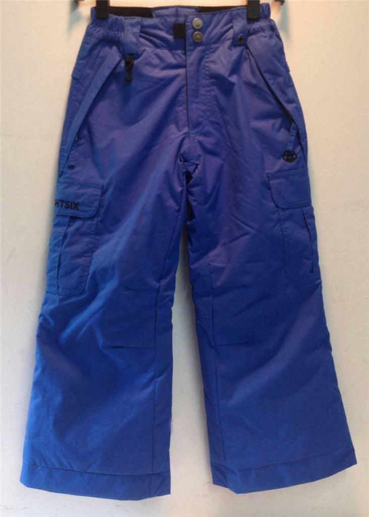 686 Ridge Youth Boys Insulated Snowboard Snow Ski Winter Pants Royal blu XS NEW
