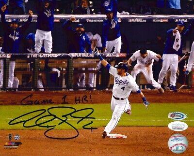 Alex Gordon Royals Signed Game 1 HR 2015 World Series 8x10 Photo JSA Auth