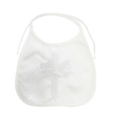 NEW Boys Satin Baptism//Christening Romper Suit Hat 0000-1 WHITE Dove Embroidered