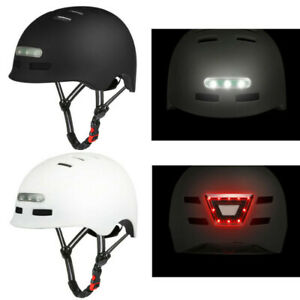 Adults Bicycle Road Cycling Safety Helmet with Rechageable LED Light Tail Light