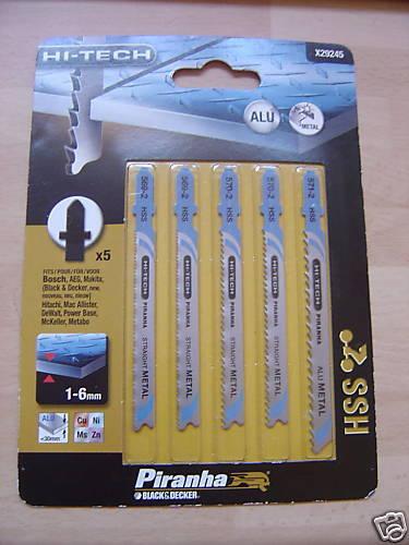 5 x black /& decker baïonnette lames de scie sauteuse pour métaux nf x29245