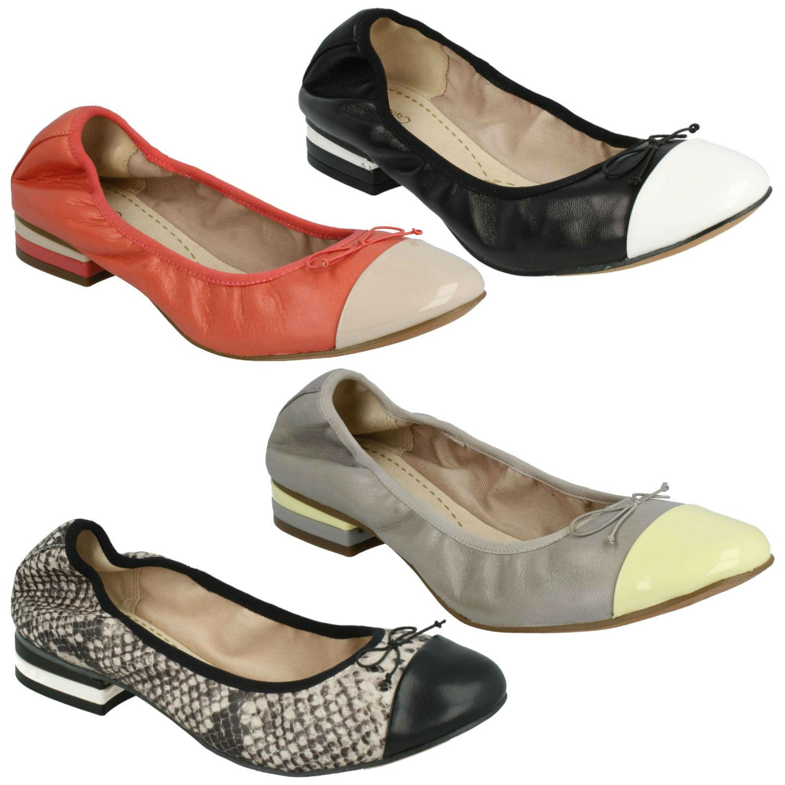 Venta Venta Venta tonta vendedora Dress Damas Clarks Cuero Slip On Arco Puntera Pump Zapatos caben D  Envíos y devoluciones gratis.