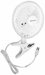 """6"""" Mini Fan Small Compact Portable Desk Table Clip Electric Personal Air 2-Speed"""