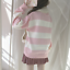 Stripe-Mori-Girl-Sweet-Japanese-Kawaii-Embroidery-Sweater-Lolita-Pullover-Loose thumbnail 3