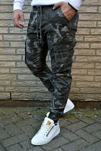 Aderente Uomo Street Jeans Military Army Deserto Sigaretta A Biker Mimetico IHwqRZgn