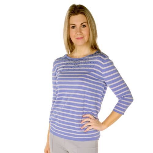 Lebek Sweater 56680018 Blue and Grey