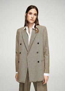 al por mayor online zapatillas sensación cómoda Details about Mango MNG Suit Women's Oversize Check Structured Blazer Size  S/XS