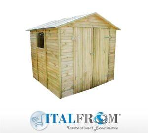 Dettagli su Box Casette in Legno Casetta da Giardino Ricovero Attrezzi  ITALFROM802