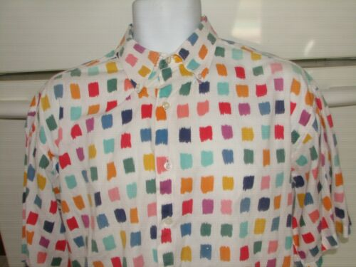 Vintage color blocks casual shirt from At-Ease New