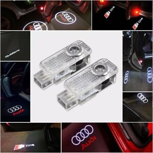 AUDI-CREE-LED-Projector-Car-Door-Lights-Shadow-Puddle-Courtesy-Laser-LOGO-Light