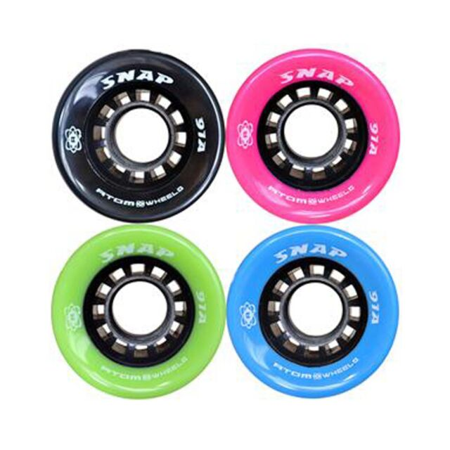 Atom Snap Indoor Outdoor Roller Skate Wheels with Bionic ABEC7 Bearings