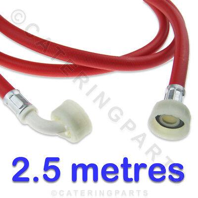 """3//4/"""" BSP 2.5 Mètre Long 2500 mm rouge machine à laver l/'approvisionnement en eau remplissage tuyau 2.5 m"""