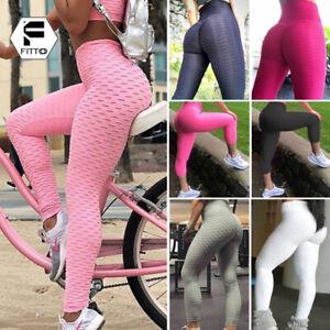 Women-Scrunch-Yoga-Pants-Capri-Shorts-Anti-Cellulite-Push-Up-Running-Leggings-G