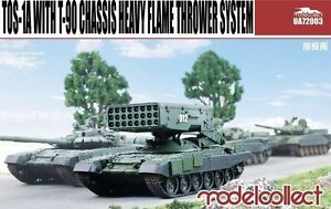 Modelcollect 1/72 Kits TOS-1A w/ T-90 Chassis Heavy Flame Thrower System UA72003