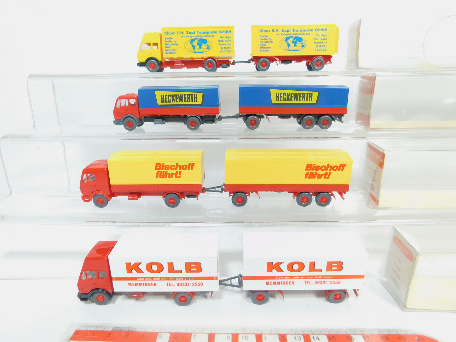 Bo747-0, 5  4x Wiking h0 1 87 poids MB  459 shérif Kolb 459 2 ZAPF 455, S.G.  neuf dans sa boîte