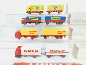 BO747-0-5-4x-Wiking-H0-1-87-Lastzug-MB-459-Kolb-459-2-Zapf-455-s-g-OVP