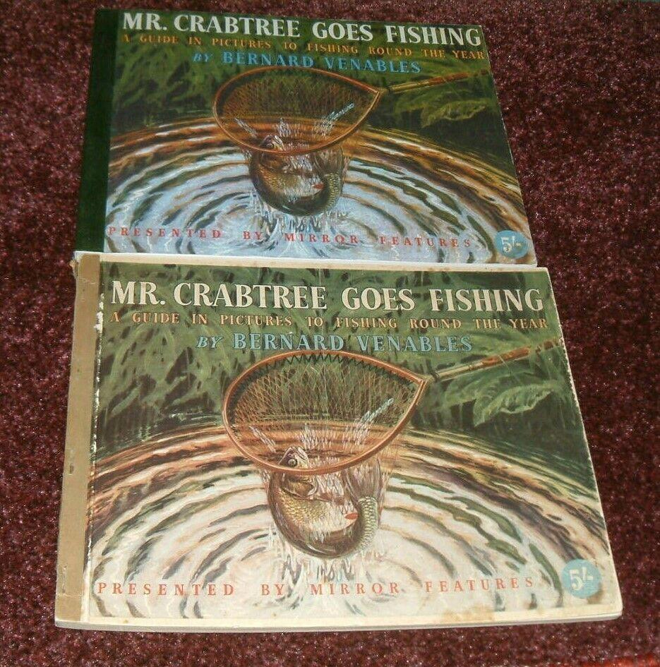 Mr.Crabtree Goes Fishing 1st edition +50th Anniversary + tribute carp barbel etc