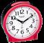 Alarm Licht Eichmüller Analog Quartz Wecker Rot mit schleichender Sekunde