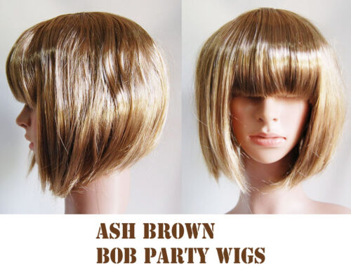 Multi Pack Short Blonde Brown Purple Bob Fancy Dress Halloween Hen Party Wig lot