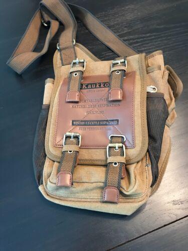 Kaukko Canvas Men's Messenger Shoulder Bag Sling B