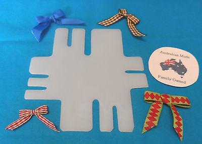 free postage plastic template makes 7 different size bows BOW MAKER