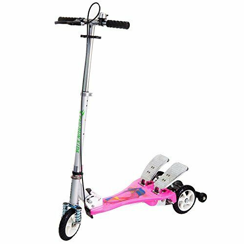 NEW Bike Rassine Kid's Ped Run Dual Pedal Scooter Rosa FREE SHIPPING