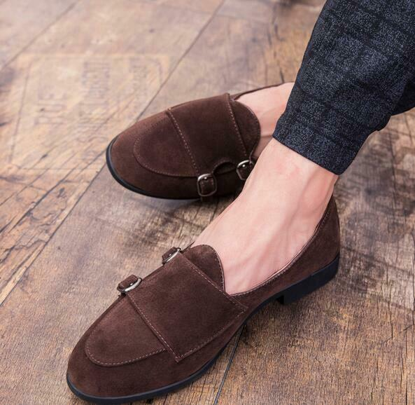 Mens Gommino Loafers shoes Casual Slip On Buckle Strap Driving Moccasins hot sz