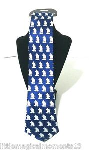 DISNEY PARKS BLUE AND WHITE MICKEY MOUSE MEN'S TIE