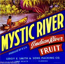 Vero Beach Florida Indian River Grapefruit Citrus Fruit Crate Label Art Print
