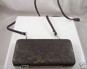 Elegant-flowers-Wallet-credit-cards-id-clutch-coppery-color-purse