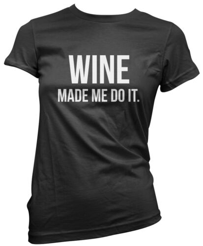Vin m/'a fait faire-vin lover funny boire cadeau t-shirt femme