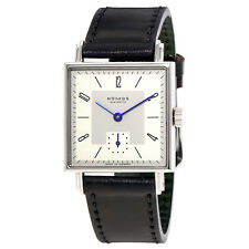 Nomos Tetra 27 White Dial Black Leather Watch 401
