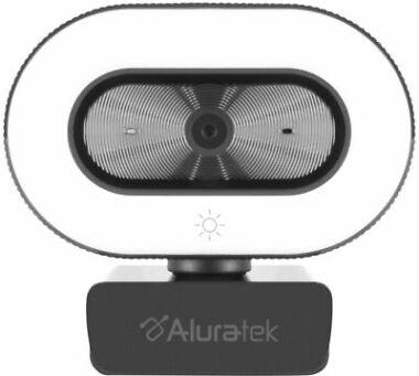 Aluratek 1080P Live Webcam w/Adjustable Ring Light