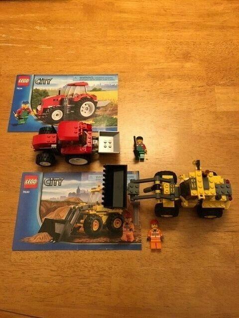 Lego City Cochegador de front-end ( 7630) Lego City Tractor ( 7634) 100% Completo