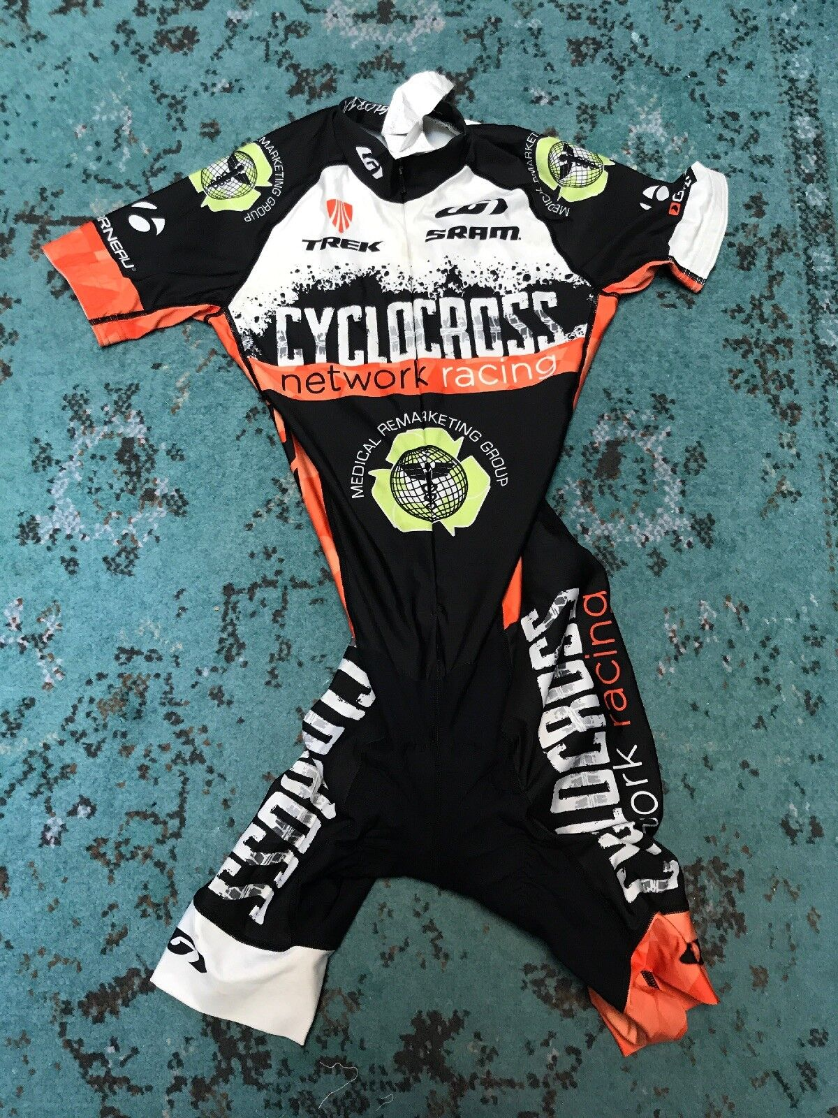 Pre-owned Garneau Cyclocross Network Racing SS Men's Skinsuits XS,M