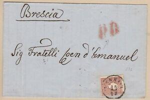 LOMBARDO-VENETO-10-soldi-bruno-II-em-su-lettera-da-Venezia-con-raro-annullo
