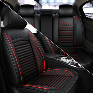 Pu-Leather-Car-Seat-Covers-Set-front-Rear-Luxury-Full-Surrounded-Car-Cushion