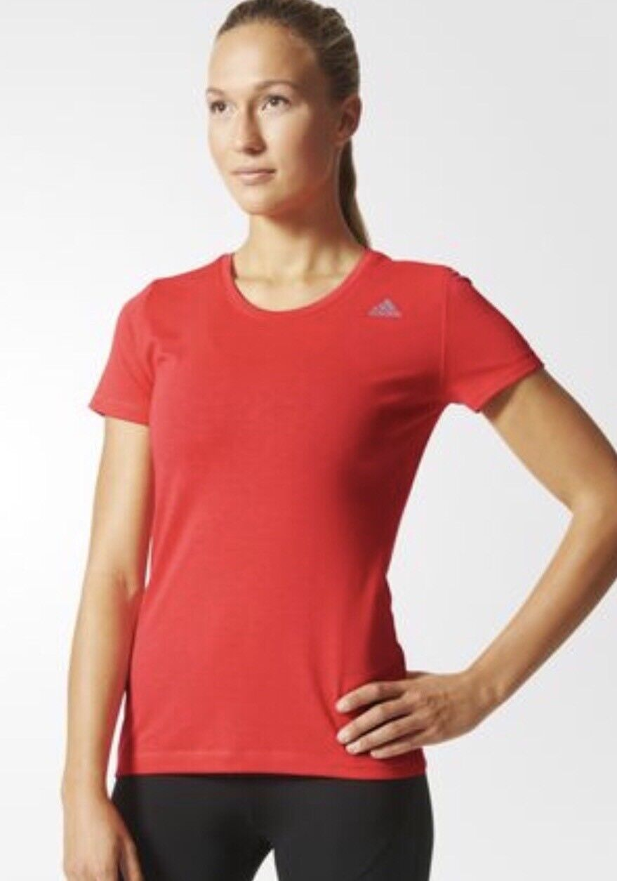 Adidas Femmes Prime T-shirt / Top Shock Rouge Taille Dames Grand 16-18