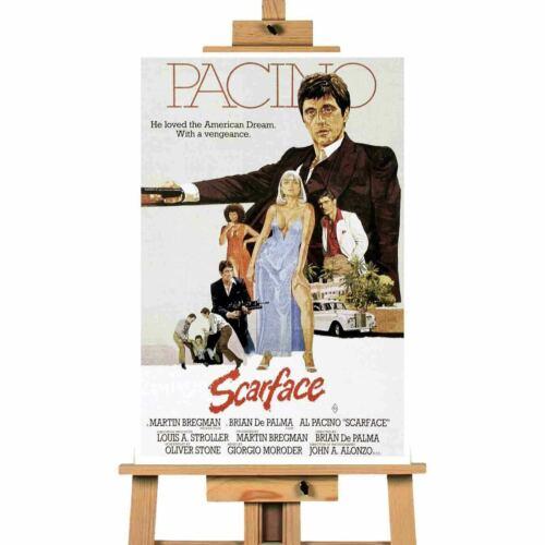 Scarface Illustration Movie Canvas Art Print Wall Art
