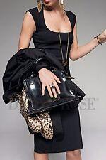 DENNY ROSE 2870 ABITO VESTITO DONNA L TUBINO NERO WOMEN BLACK DRESS KLEID ROBE