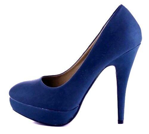 EDEL  JUMEX Plateau Pumps 36 Stiletto Heels Dirndl blau Hochzeit Blogger Wiesn Dirndl Heels 7eee9a
