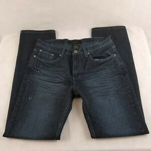 M-Society-Mens-Blue-Jeans-Tag-Size-32-X-32-Whiskered-Lightly-Distressed