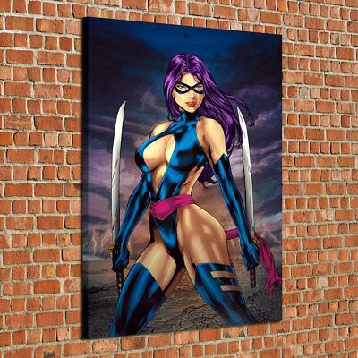 HD Print Oil Painting Home Decor Art on Canvas Psylocke 12x18inch Unframed