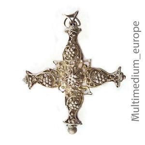 Silber-Kreuz-Rosenkranz-Anhaenger-filigran-silver-cross-pendant-rosary