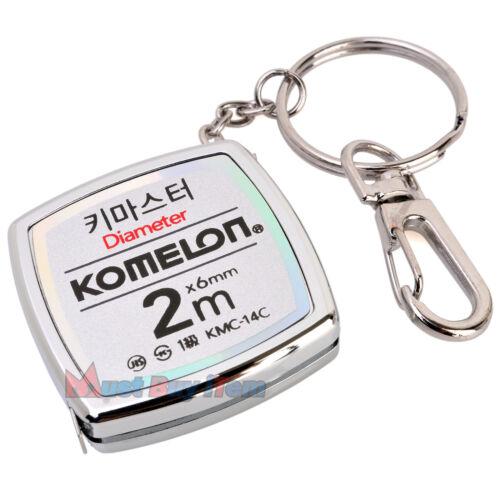 KOMELON Key Master Chaîne Anneau Mini Ruban à mesurer les dirigeants outil de mesure Titulaire 2 m